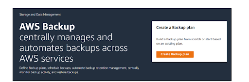 AWS Backup-Centralized Cloud Backup