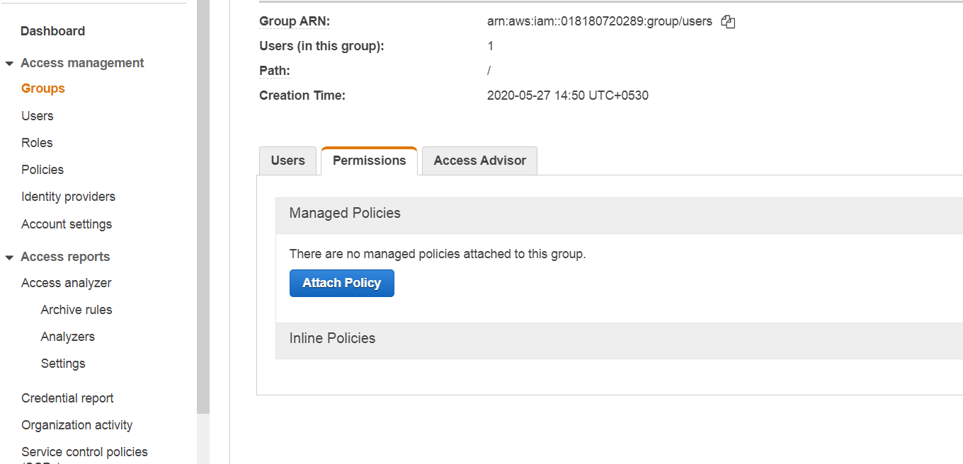 aws s3 bucket user policy
