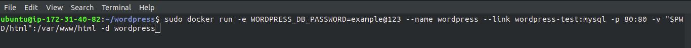 install-Wordpress-docker