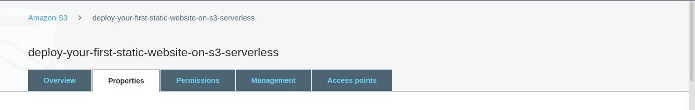 static-Website-Amazon-S3-Serverless