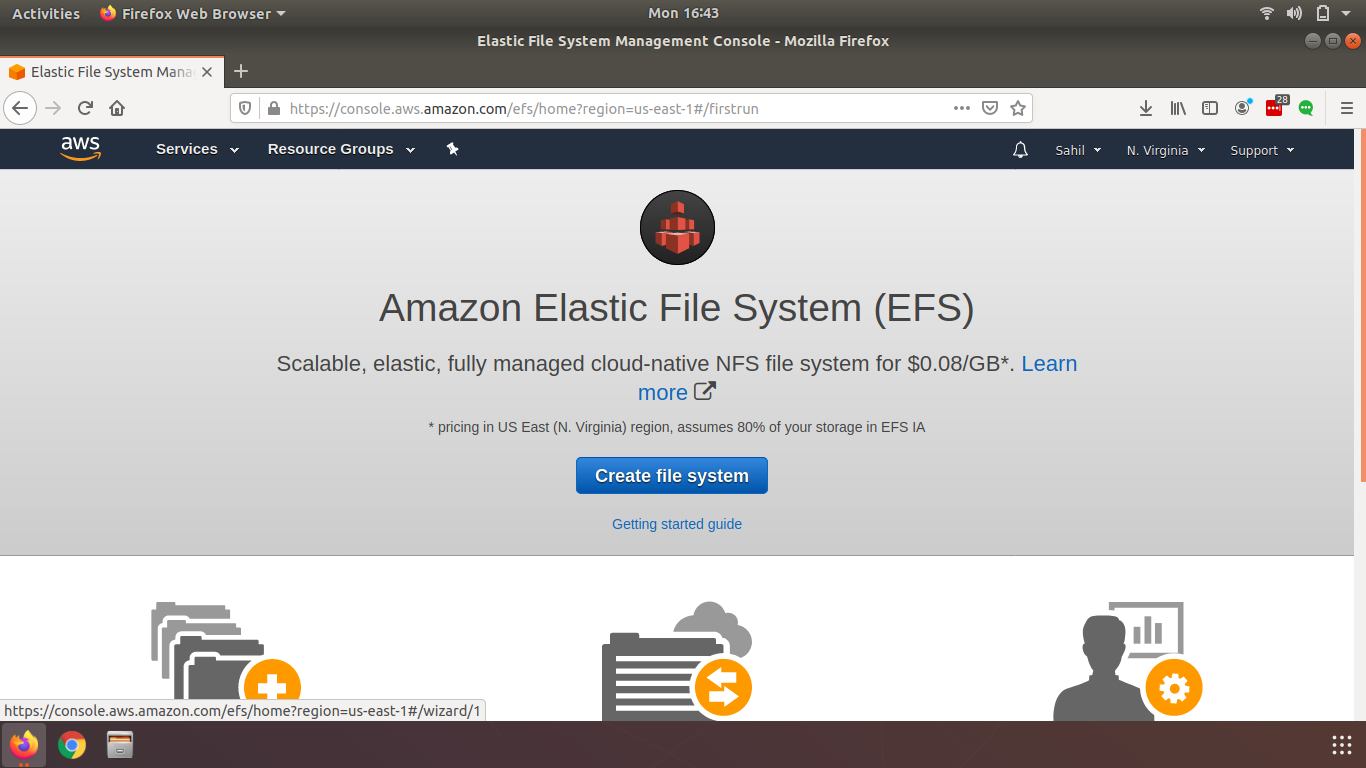 AWS Elastic File Storage & How to create it