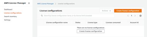 AWS License Manager