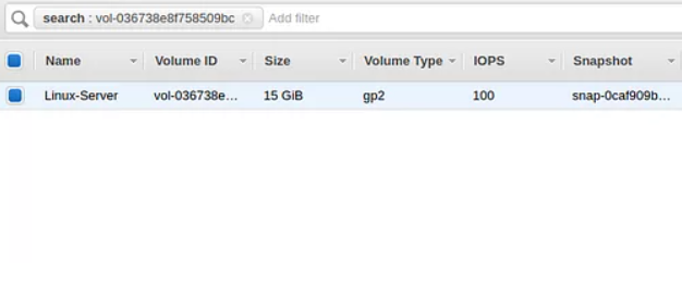 Extend EBS disk space of AWS EC2  Instance