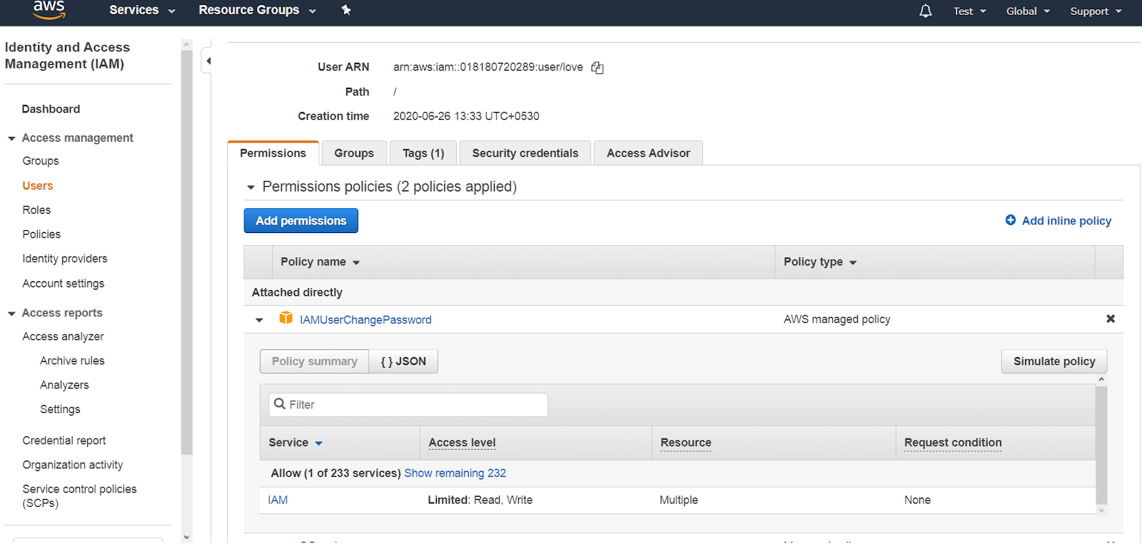 EC2: Manage Security Groups with help of JSON policy