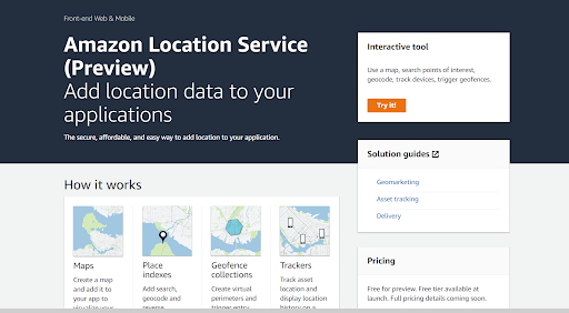 Add Maps and Location to Your Applications - Amazon Location