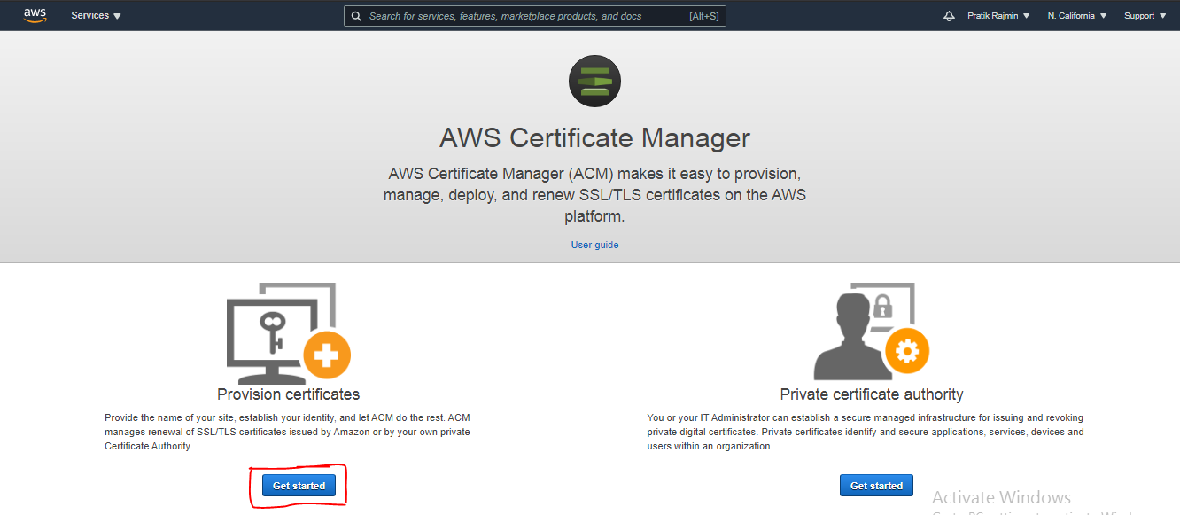 Amazon Certificate Manager (ACM)