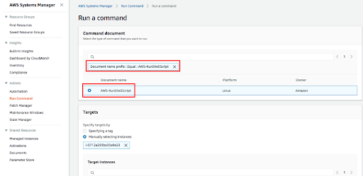 Run Command Remotely on EC2 instance