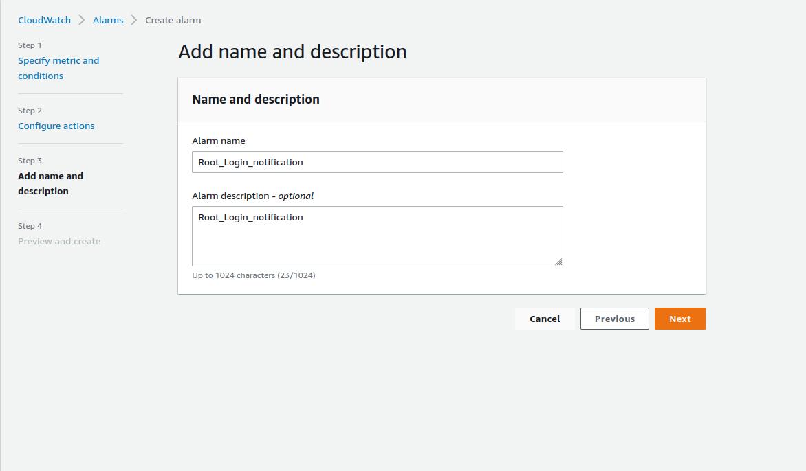 AWS Root login Alert